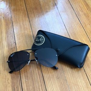 Ray Ban Lightweight Aviator Sunglasses Polarized